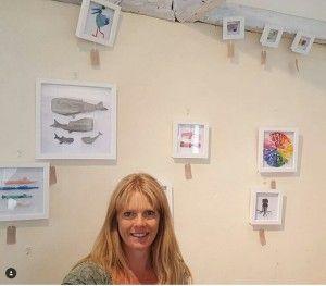 Michelle en una de sus exposiciones
