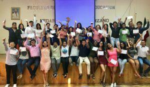 Grupo de jóvenes líderes de la Universidad ULEAM